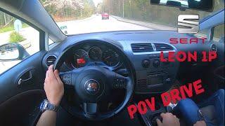 Seat Leon II (1P) 1.6i 102hp   POV Test Drive (60fps)