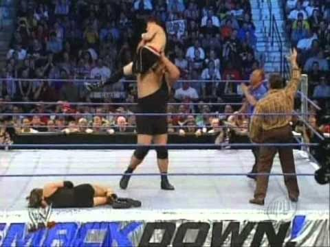 Big Show vs Stephanie McMahon and Zach Gowen - No Disqualification Match - WWE SmackDown 2003 Ful thumbnail