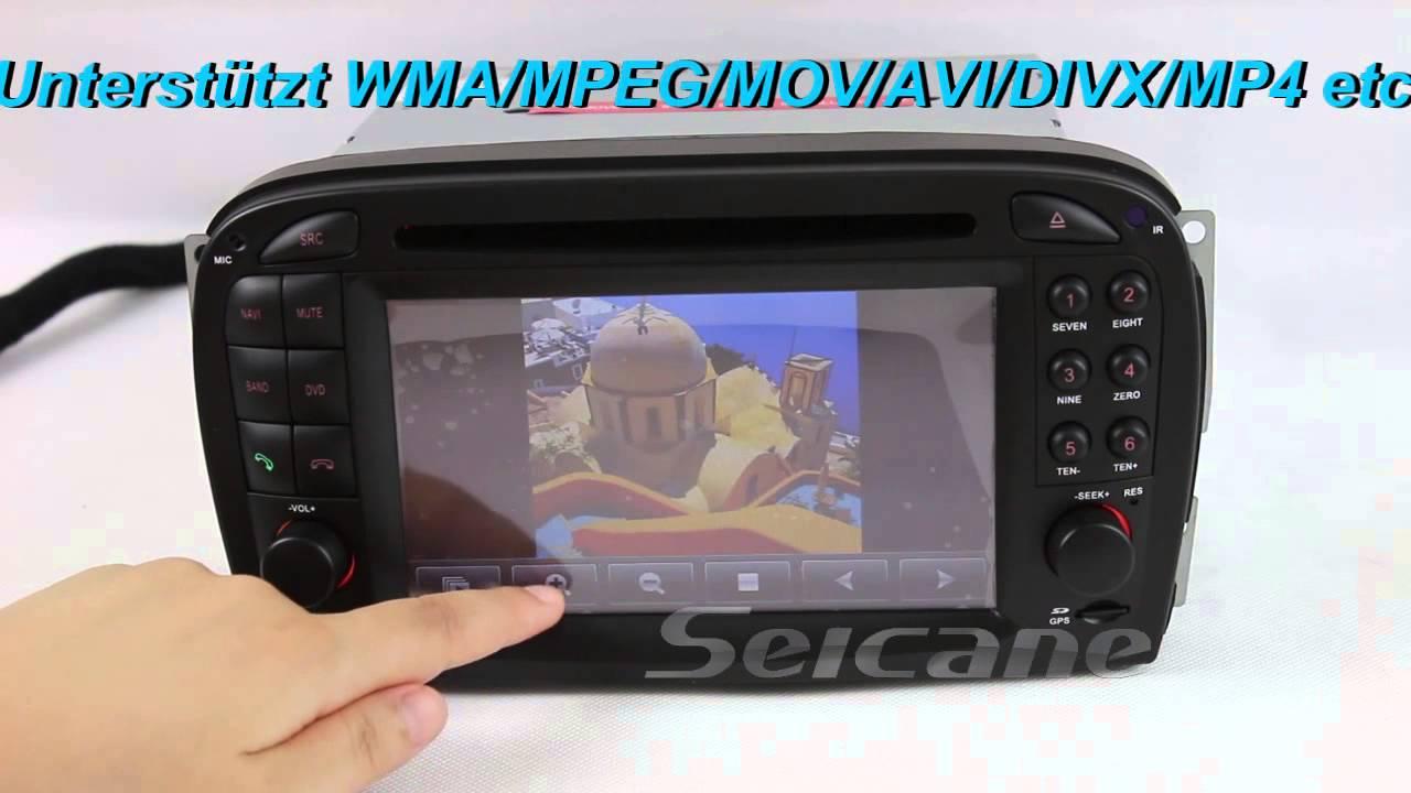 2001 2002 2003 2004 mercedes sl r230 auto radio dvd player gps navigationssystem mit bluetooth ipod [ 1280 x 720 Pixel ]