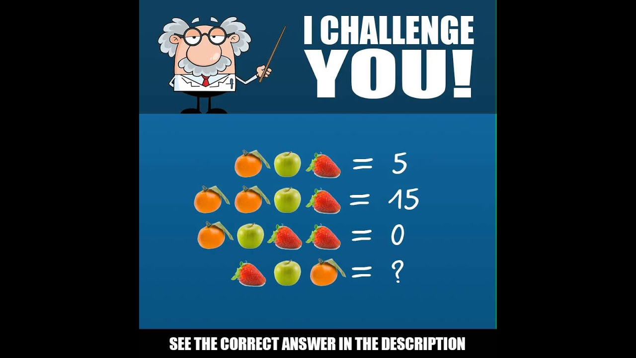 Can you figure out this fruit math problem? - YouTube