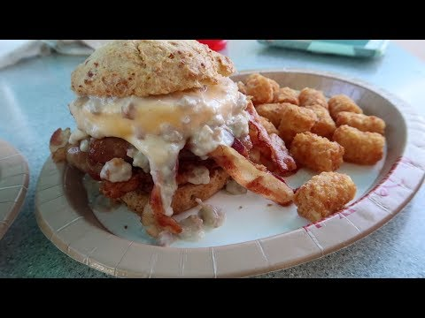 Disney Taste Test & Food Review!  New Breakfast Sandwich At Disneys All Star Music Resort