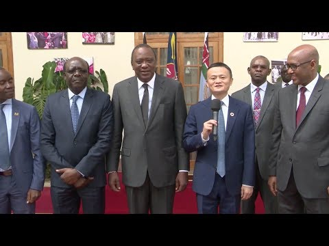 Kenya President Kenyatta Meets with Chinese Business Magnate, Jack Ma
