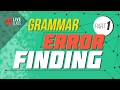 GRAMMAR Error Finding 1 (LIVE) | Ayman Sadiq