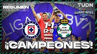Resumen y goles   Cruz Azul 1(2)-(1)1 Santos   Torneo Guard1anes 2021 BBVA MX Final vuelta