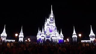 2015 Cinderella Castle DreamLights Including NEW Turrets at Magic Kingdom, Walt Disney World