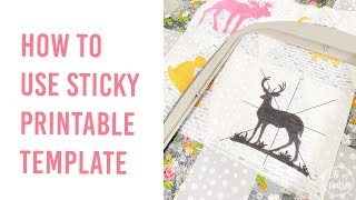 How to Use Embellish® Sticky Printable Template