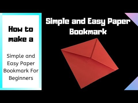 How to make Simple and Easy Paper Bookmark | DIY Paper Crafts Ideas
