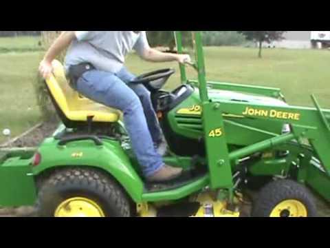 2005 John Deere X585 Garden Tractor With John Deere 45