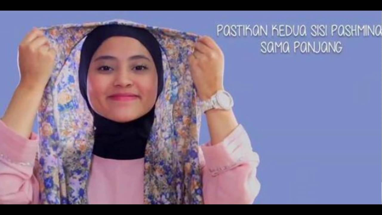 Video Tutorial Hijab Pashmina Praktis Tanpa Jarum Pentul Saat