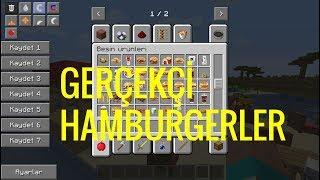 Mİnecraft GerÇekÇİ Hamburgerler  Modu !