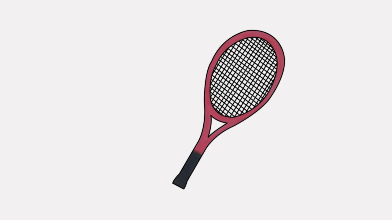 how to draw a tennis racket | step by step draw a tennis racket