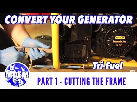 TRI-FUEL GENERATOR CONVERSION - Frame Cutting - (Part 1) - Tri-Fuel Conversion
