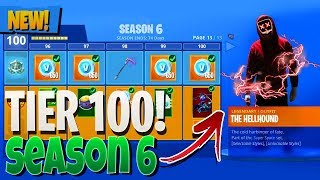 *NEW* SEASON 6 BATTLE PASS TIER 100 LEAKED! - Fortnite Battle Royale Season 6 LEAKED INFO!