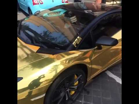 Aubameyang Lamborghini Gold YouTube