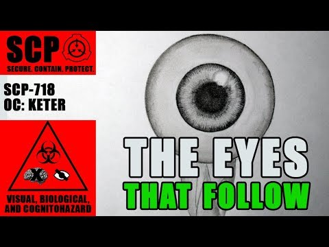 SCP-718 illustrated (Eyeball) Thank you for 500 Subs - YouTube