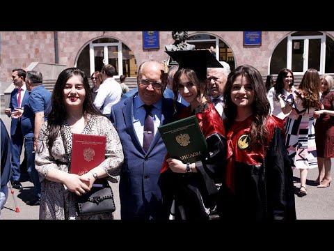 Выпускники филиала МГУ в Ереване получили дипломы