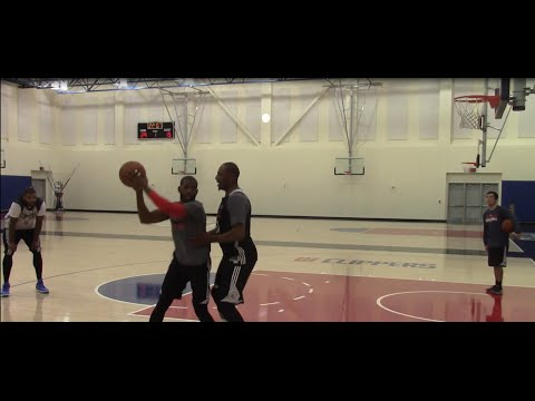 Chris Paul, Paul Pierce, Jamal Crawford, Josh Smith & Cole Aldrich play 1 on 1! NBA Practice