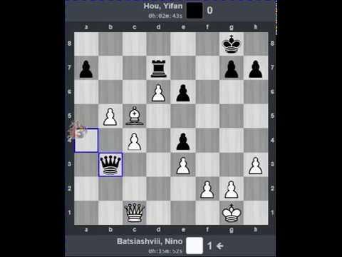 Nino Batsiashvili (2472) vs. Yifan Hou (2670)