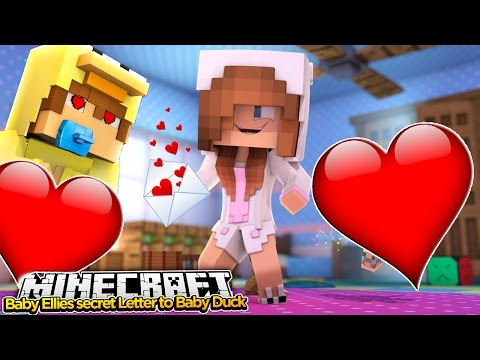 Minecraft Little Kelly : BABY ELLIE WRITES A LOVE LETTER TO BABY DUCK! (Roleplay)