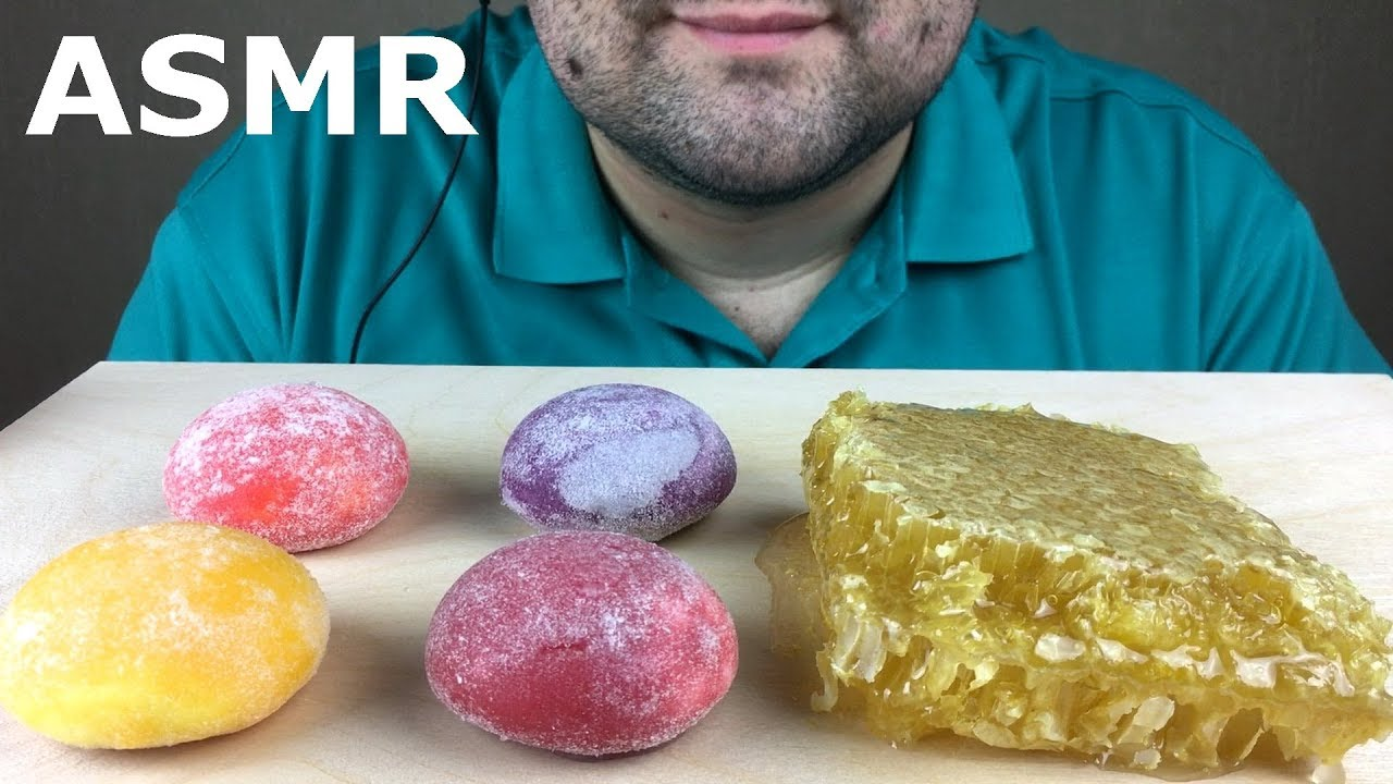 Most Popular Food For Asmr Mochi Ice Cream And Honeycomb Eating Sounds No Talking