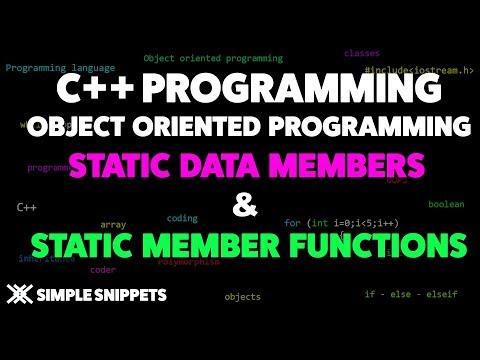 Static Members & Member Functions in C++ - Simple Snippets