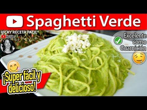 Spaghetti Verde Al Poblano Vicky Receta Facil