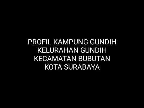 Profil Kampung Gundih Kota Surabaya