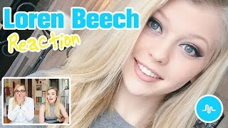 LOREN BEECH Musical.ly Compilation Reaction (Loren Gray Reaktion)