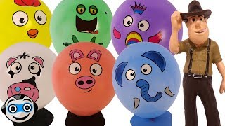 Globos de Animales con figuras de TADEO JONES thumbnail