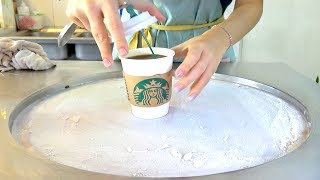 Starbucks Espresso Coffee Ice cream VS starbucks Matcha Green Tea Ice cream Rolls challenge