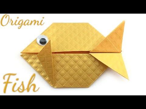 Easy Origami Fish Tutorial (Hyo Ahn)