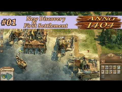 Anno1404 New Discovery & First Settlement  #01 |