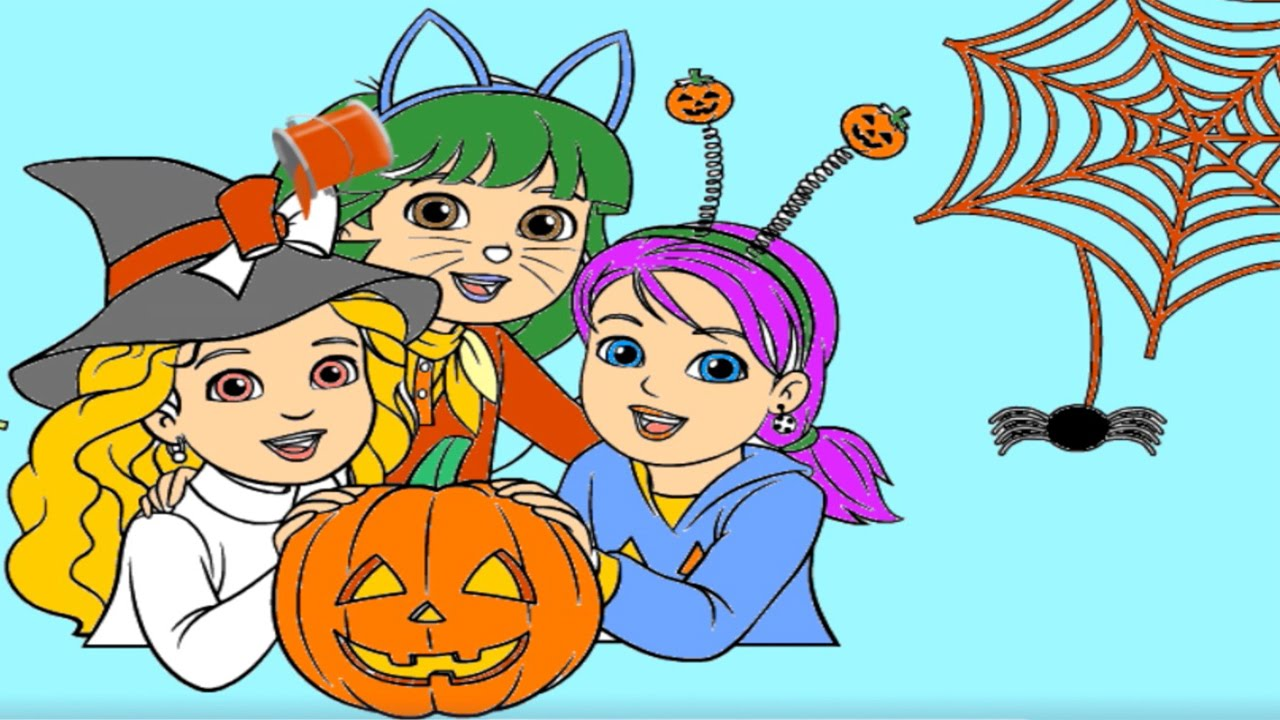 Nick Jr Halloween Coloring Book with PAW Patrol, Blaze, Bubble ...