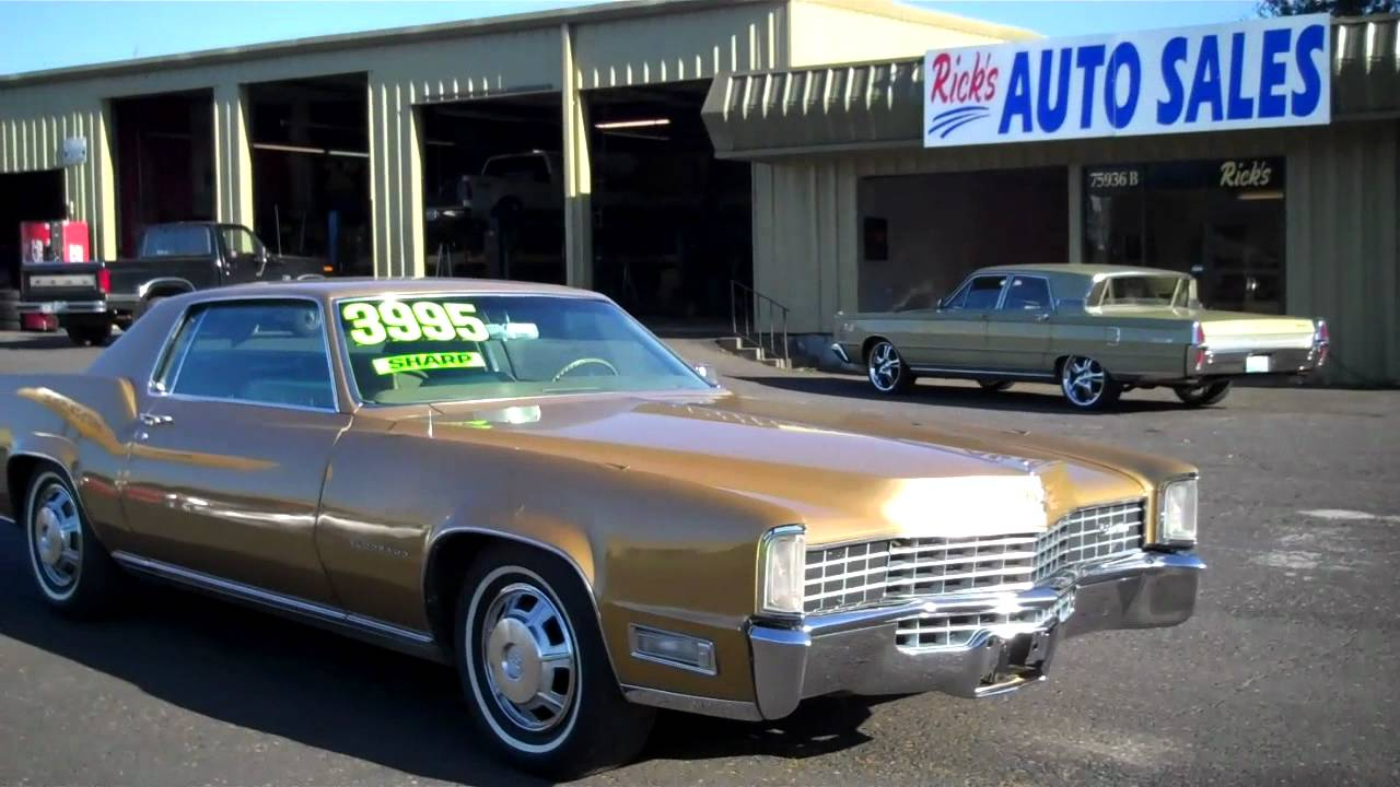 1968 CADILLAC ELDORADO $3995 SOLD - YouTube