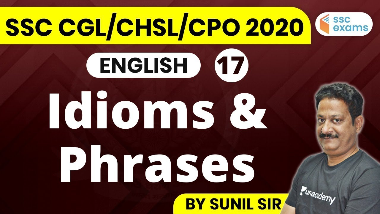 1:00 PM - SSC 2020 Exams | English by Sunil Sir | Idioms and Phrases with Meanings