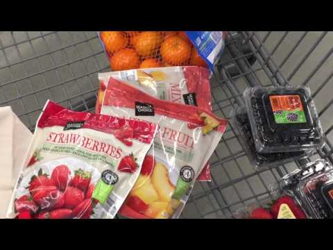 Shopping for Simple 7 green smoothie ingredients at Aldi