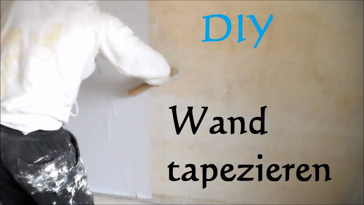 diy wand tapezieren anleitung so tapeziert man eine wand w nde tapezieren youtube. Black Bedroom Furniture Sets. Home Design Ideas