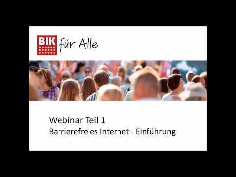 Webinar: Barrierefreies Internet - Einführung (Teil 1)