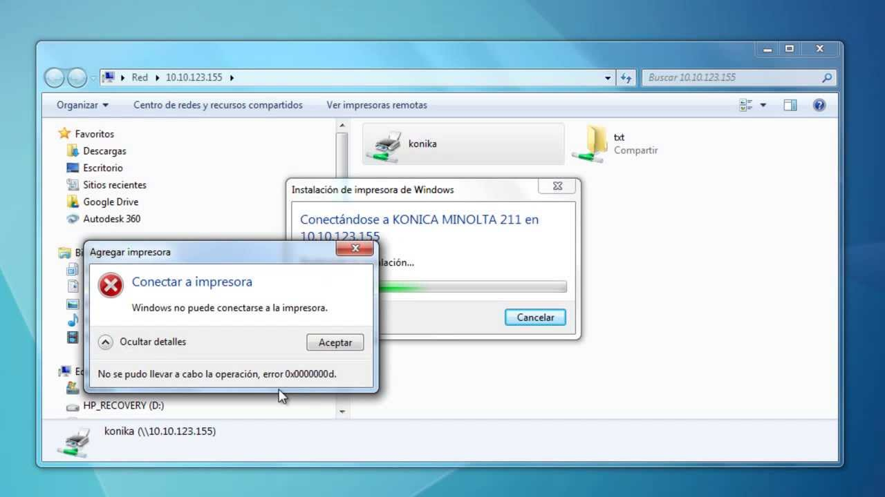 Instalar una Impresora en Red - IP   Solución de error 0x0000000d Windows 7  8 Vista XP x32 x64