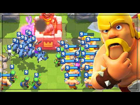 SWARM THE ENEMY!   MASS TROOP SPAM DECK in Clash Royale!