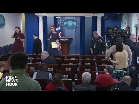 WATCH: White House holds daily news briefing amid gun debate