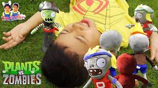 ปลูกผักสู้ซอมบี้!! ซอมบี้ตามหาไอติมจับตัวริวไปแล้ว Plant vs Zombie 2 เกมชีวิตจริง - วินริวสไมล์