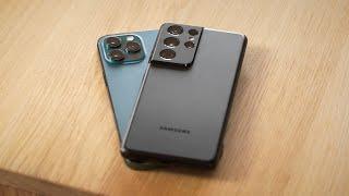 Wer baut das beste Smartphone? iPhone 12 Pro Max vs. S21 Ultra!