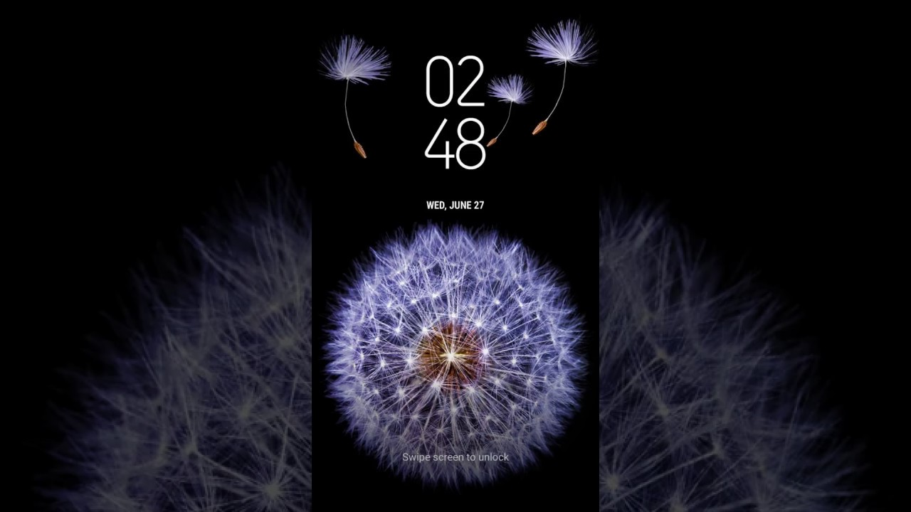 Samsung Themes Animated Wallpaper Galaxy Dandelion Bergen Themes