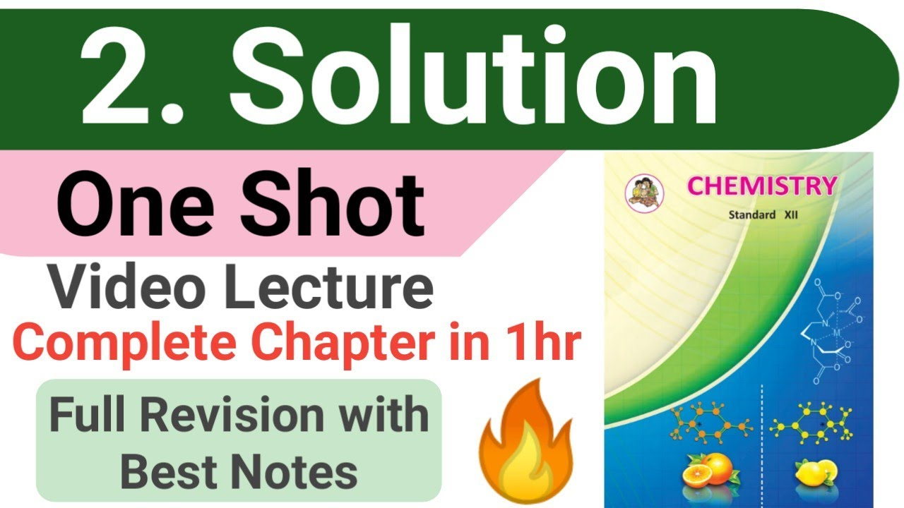 One shot || 2 SOLUTIONS chemistry class 12 MAHARASHTRA BOARD with best handwritten notes || #nie