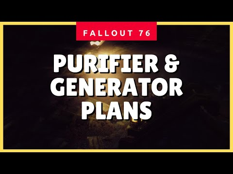 Large Water Purifier & Medium Power Generator Plans - Fallout 76 Crafting Guide
