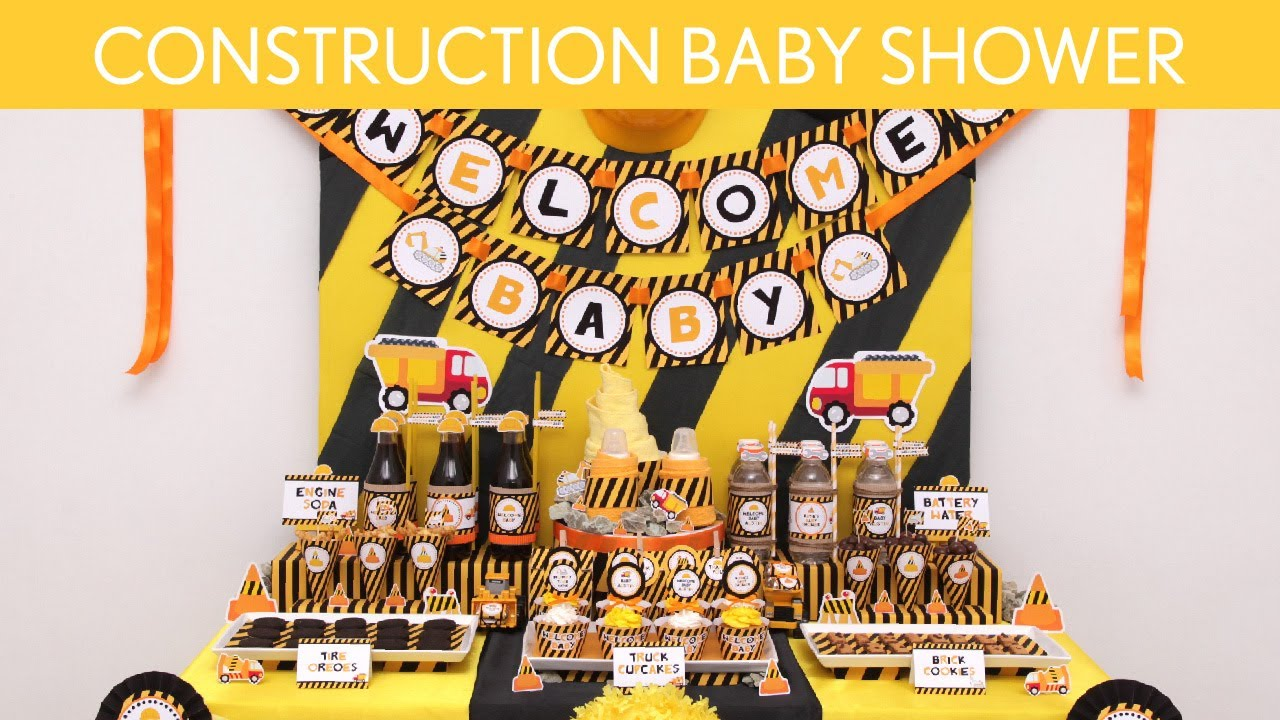 Construction Baby Shower Ideas Construction S20 Youtube