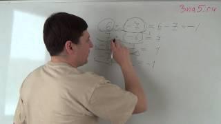 Сумма положительного и отрицательного целых числ. Математика 6 класс.