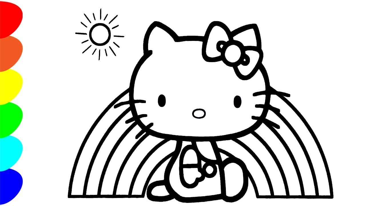 хелло китти раскраски для детей Hello Kitty Coloring Pages For Children
