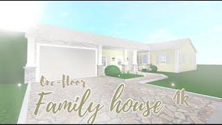ROBLOX Bloxburg: One-story Family house